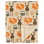 Yoga Sprout Unisex Baby Mink and Sherpa Plush Blanket, Bear, One Size