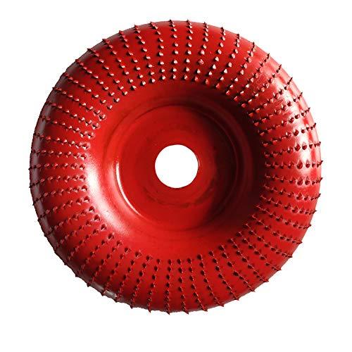 Ecotrump Holz Winkelschleifer Scheibe, Hartmetall Beschichtung 16mm/22mm Bohrung Holzschnitzscheibe für 5/8 Zoll Schleifen Schnitzform Polierwinkel Schleifer Befestigung Werkzeug (Rote)