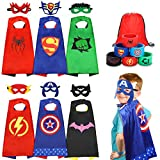 Jojoin Superhelden Kinderkostüm Kinder, 6 Stücke Superhelden Kostüm Kinder mit 6 Superhelden...
