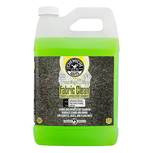 Chemical Guys CWS203 Foaming Citrus Fabric Clean Carpet & Upholstery Cleaner (Car Carpets, Seats & Floor Mats), 1 Gallon
