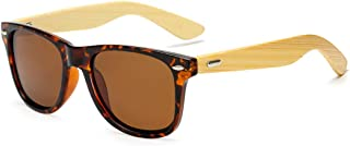 Saalising Wooden Anti-UV Polarized Sunglasses Color : Brown UV400 Protection Unisex