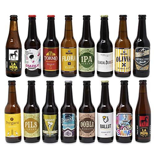 Pack de cervezas artesanas. x16 Las mejores marcas. 5280 ml. El mejor...