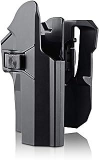 velocit/à Tattica Airsoft Holster Glock 17 19 22 23 31 32 Fondina da Cintura Cuscinetto Torcia Lightlock Glock
