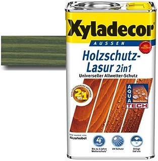 Xyladecor Holzschutz-Lasur 2 in 1 Tannengrün 0,75 l - Dünnschicht Lasur   farbbeständig & schützt vor Nässe & UV-Licht