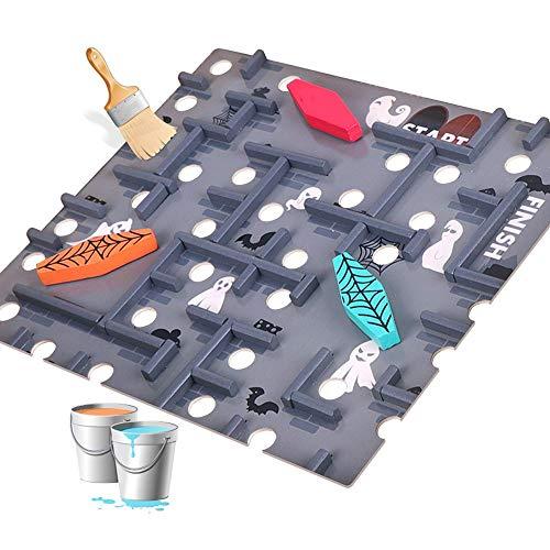 Yifuty Brett-Spiel-Balance-Ball 60-Spiegel-Holzlabyrinth-Puzzle-Intelligenz-Spielzeug 5-6-10 Jahre alt und über Kinder Erwachsene Freizeit 300 * 360 * 90mm