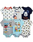 Disney Baby Boys' Bodysuit – 6 Pack Mickey Mouse, Lion King, Winnie the Pooh Bear (Newborn/Infant), Size 24 Months, Mickey Best Pals