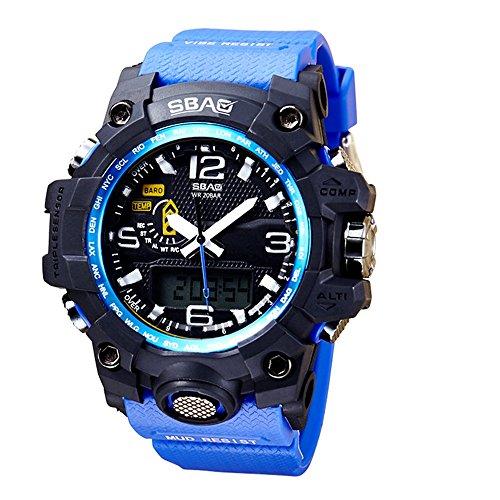 HWCOO SBAO Orologi 2018 nuovi sport di moda multi-funzione orologio elettronico studente orologio quadrante esterno (Color : 1)