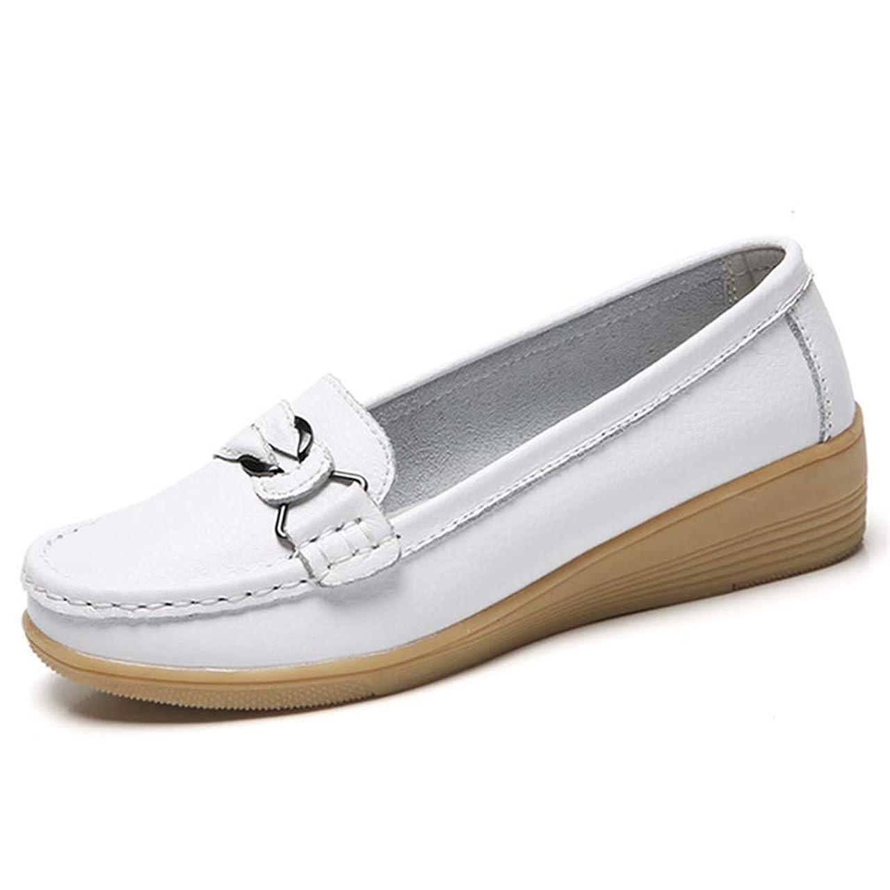 協力的記者アナリストモカシンシューズ 痛くない ローヒール ウェッジ ウェッジソール ナースシューズ 歩きやすい 疲れない ウエッジ ぺたんこ かわいい ラウンドトゥ 美脚 婦人靴 ペタンコ 大きいサイズ 靴 柔らかい ママシューズ 妊婦