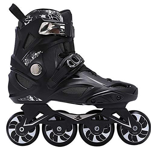 LIHONG Rollers en Ligne Léger Adultes Patins à roulettes Confortables en Fibre de Carbone Inline...