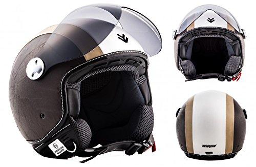 ARMOR Helmets AV-84 Casco Moto Demi Jet, Beige/Vintage Beige, L (59-60
