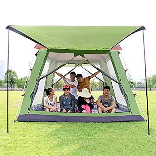 Outdoor Grote Automatische Tent, Aluminium Rod Multi-Seat Plein Top Hole-Take Park Casual Pergola Camping Tent