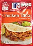 chicken taco mix - McCormick CHICKEN TACO Seasoning Mix 1oz (3 Packages)