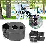Soporte para bastón/muleta para silla de ruedas, soporte para bastón para bastón para silla de ruedas Soporte para muleta Scooter eléctrico Silla de ruedas/andador/bastón Accesorio universal