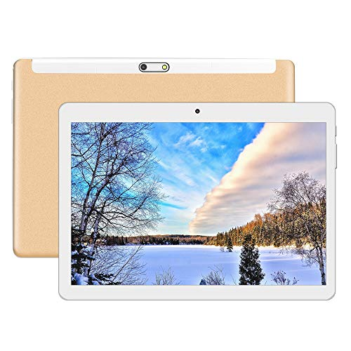 KXD Tablet Android 7.0 da 10 pollici con WiFi, navigazione Bluetooth 4 GB di RAM 64 GB di Memoria Dual SIM 3Gè anche un cellulare (Dorado)