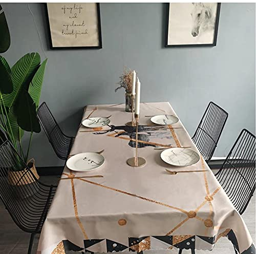Nappe De Cerf Couverture De Table À Manger Cheminée Comptoir De Table Étanche Nappe 140X220Cm