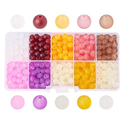 PandaHall - 1caja 250 cuentas/perlas vidrio redondas