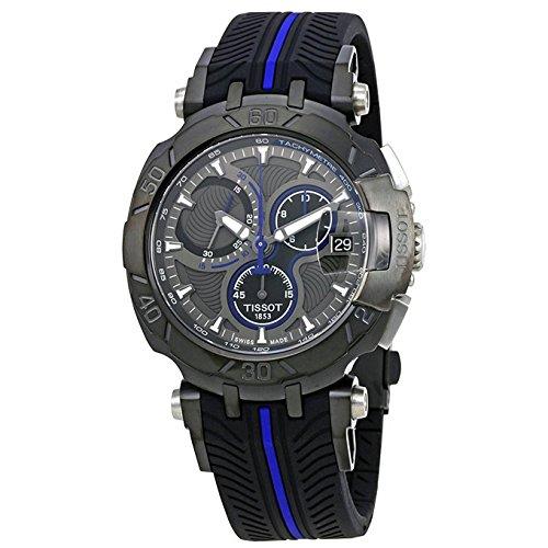 Orologio Tissot T-Race T0924173706100 Al quarzo (batteria) Acciaio Quandrante Nero Cinturino Silicone