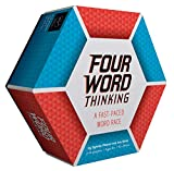 Chronicle Books Four Word Thinking: A Fast-Paced Word Race (Fun Family Word Game, Wordplay Card Game for All Ages), multilcolor