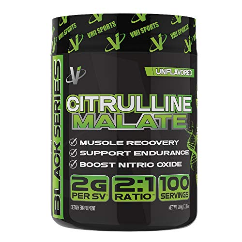 VMI Sports Citrulline Malate 2:1 Powder - Massive Muscle Pumps & Vascularity, Improves Vascularity & Athletic Endurance, Boost Nitric Oxides & Muscle Recovery, Unflavored, 100 Servings, 7.06 Ounce