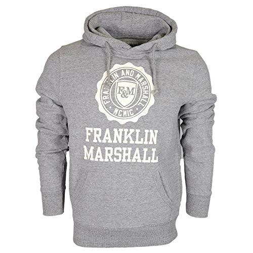 Franklin E Marshall - Sudadera para hombre, 3 colores, art. 065A Sport Grey Melange S