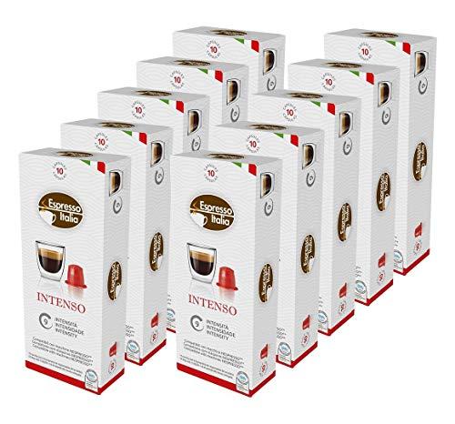 100 Nespresso Kapseln Kompatibel von Espresso Italia, INTENSO Intensität 9 von 12, 100 Kaffeekapseln, 10 x 10 Getränke