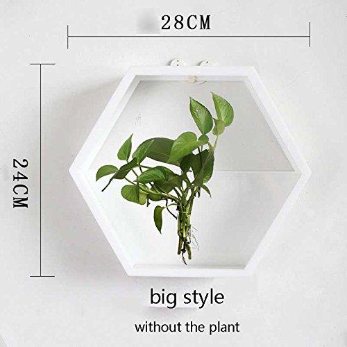Brève Main Acrylique Chlorophytum Pot De Fleurs Mur Suspendu Radis Vert Hydroponique Plante Vase Maison Salon Moderne Décoration C