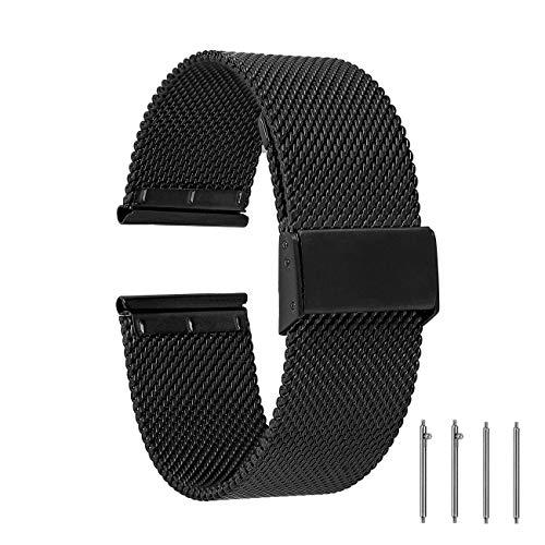 EONPOW Edelstahl Uhrenarmband Adjustable Metallarmband Mesh Armband Ersatzband