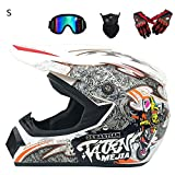 Casque Moto de Motocross de Route Casque de Moto de Cross Country Casque de Course de...