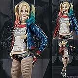 SHF Suicide Squad Clown Girl Harley Quinn PVC Figura de acción Estatua Modelo Decoración Figura en caja 15CM