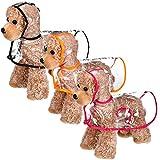 3 Pieces Pet Dog Raincoat Pet Puppy Hooded Waterproof Jacket Transparent Puppy Rain Poncho Pet Rainwear for Small Medium Dogs (Medium)