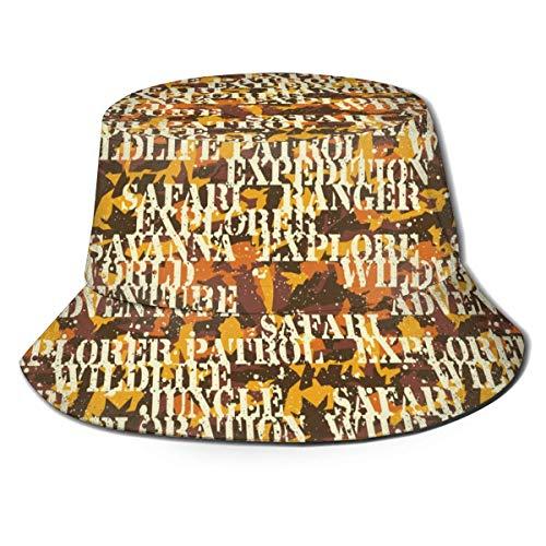 NA Sombrero para el Sol, Sombrero de Pesca de Camuflaje Escrito, Gorra de Pescador sin Costuras cómoda y carnosa importada para Patry