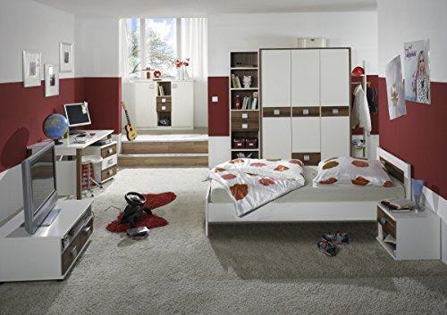Dreams4Home Jugendzimmer 'Vamo XL', Kinderzimmer, Kinderschreibtisch, Schreibtisch, Kinderzimmerset, Einlegeböden:ohne Einlegeböden;Schubkastenkommode:ohne Schubkästen