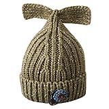 BlueSterCool Cola de Pescado Sombrero, Invierno Niño Niña Sombrero Bebé de Lana de Punto el Sombrero Caliente del Sombreros (Caqui)
