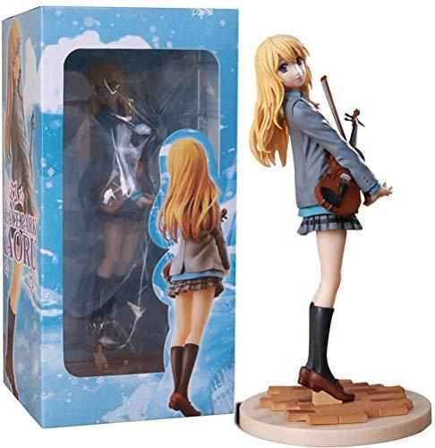 SUGARHOST Figura de Anime Modelo de Personaje de acción- Your Lie In April Miyazono Kaori Violin, marioneta de Recuerdo Coleccionable Estatua decoración Regalo para niños fanáticos del Anime, 20cm