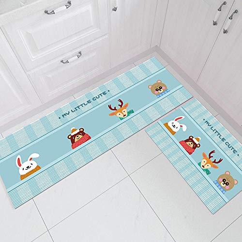 HLXX Alfombra moderna de cocina, antideslizante, para puerta de baño, alfombra absorbente, tamaño A6, 50 x 160 cm