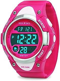 Kids Digital Sport Watch Boys Girls - Kid Waterproof Sports Electronic Led Watches, Children Outdoor Wristwatch with Alarm Stopwatch