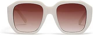 Sunglasses Fashion Accessories Square Retro Style Sunglasses Literary Round Face UV Protection (Color : Beige)