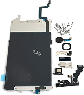 Screen LCD Metal Bracket Front Camera Flex Cable Small Parts Replacement for iPhone 6 Plus (Black)
