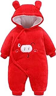 Fulision Newborn Baby boy Girl Winter Warm One-Piece Hooded Romper Jumpsuits Coat