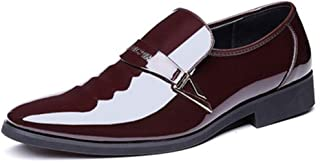 Oxford Patent Leather Wedding Dress Shoes Men Comfortable Formal Business Shoes