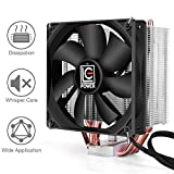 LC-POWER LC-CC-120 CPU Air Cooler,120mm PWM Fan with 4 Heatpipes for Intel 115x/2066, AMD AM4