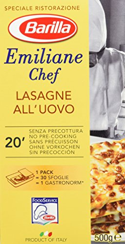 Barilla Emiliane Chef Lasagne all' Uovo – 6er Pack (6 x 500g)