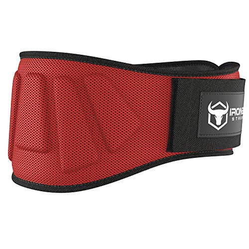 Weightlifting Belt for Men and Women - 6 Inch Self-Locking Weight Lifting Back Support, Workout Back Support for Lifting, Fitness, Cross Training and Powerlifitng (Large, Red)