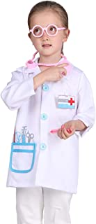 Kid Doctor Costume White Kid Doctor Coat for Cosplay Role Play Pretend Play