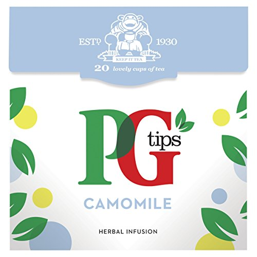 PG Tips - Camomile Flavour Herbal Infusion - 20 Pyramid Teabags - 20g