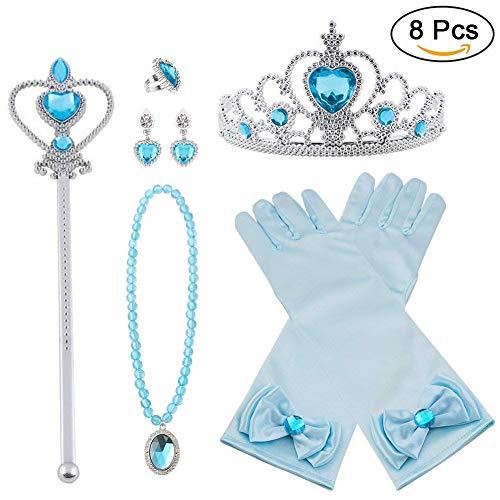 Vicloon Princesa Vestir Accesorios 6 Pcs Regalo Conjunto de
