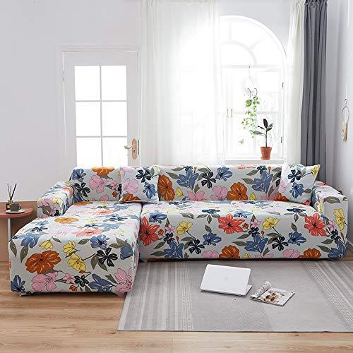Funda de sofá con Estampado Floral Toalla de sofá Fundas de sofá para Sala de Estar Funda de sofá Funda de sofá Proteger Muebles A21 3 plazas
