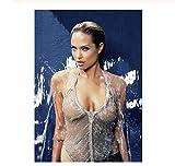 JIUJIUJIU Leinwand Gemälde Angelina Jolie Sexy Königin