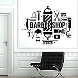 parrucchiere barbiere adesivo murale parrucchiere parrucchiere strumenti per parrucchieri adesivi murali parrucchiere decorazioni per porte in vetro z_72x57cm