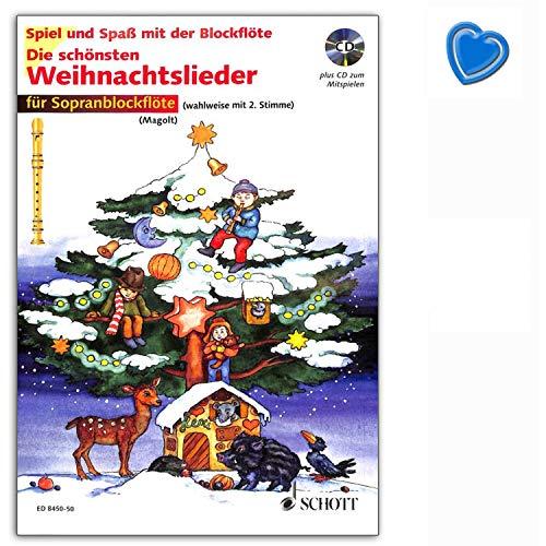 Edzard ED8450-50 9783795751692 - Juego de 2 canciones navideñas para flauta dulce soprano